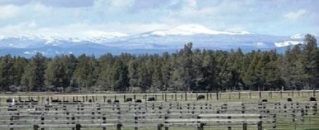 PM Ranch with Three Sisters background